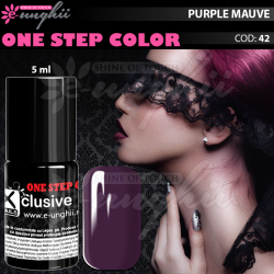 Gel Lac One Step, Exclusive Nails, Cod 42, Oja Semipermanenta One Step, 5ml, Mov Purpuriu