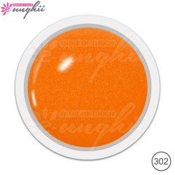 Geluri Colorate Sidefate, Exclusive Nails, Cod 302, Culoare Orange Pearl, 5ml
