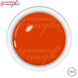 Geluri Colorate Manichiura, Exclusive Nails, Cod 151, Culoare Red Orange, 5ml
