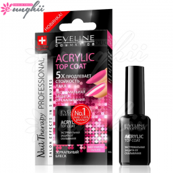 Tratament Top Coat Cu Efecte De Acril, Acrylic Top Coat - Eveline Cosmetics